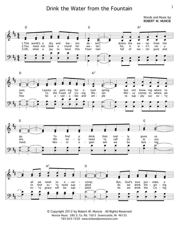Sheet Music Bob And Jane Muncie Greencastle Church Of